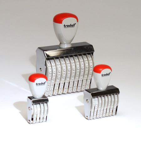 Stilhöjd 3 mm, 4-20 sifferband