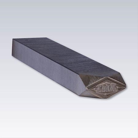 Härdad stålstämpel, Valfri gravyr. Längd 100 mm