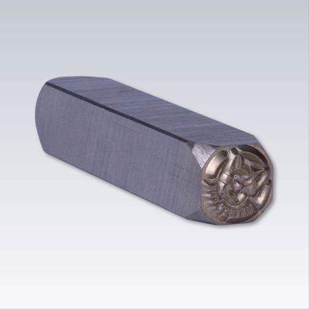 Ohärdad stålstämpel, Valfri gravyr. Längd 64 mm