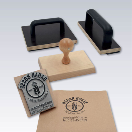 Emballagestämplar med valfri text