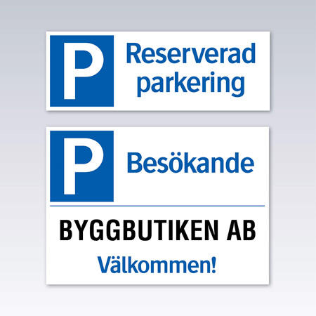 Parkeringsskyltar